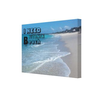 Zitat-Strand-Leinwand-Druck Leinwanddruck