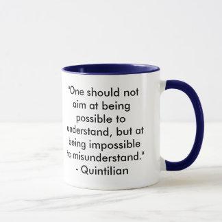 Zitat-Tasse schreiben u. redigierend Tasse