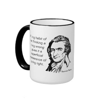 Zitat-Tasse Thomas Paine Ringer Tasse
