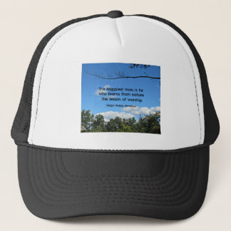 Zitat über Natur durch Emerson Truckerkappe