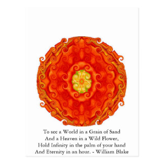 Zitat Williams Blake Postkarte
