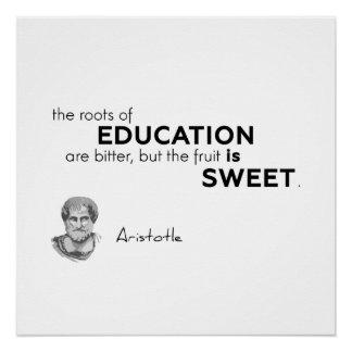ZITATE: Aristoteles: Bildung Poster