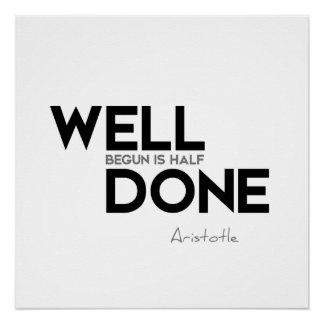 ZITATE: Aristoteles: Brunnen angefangen Poster