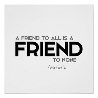 ZITATE: Aristoteles: Ein Freund Poster