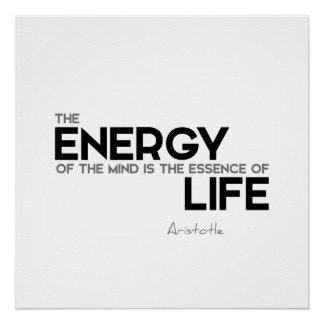 ZITATE: Aristoteles: Energie, Wesentliches Poster