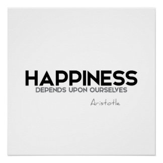 ZITATE: Aristoteles: Glück Poster