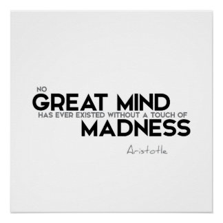 ZITATE: Aristoteles: Großer Verstand Poster