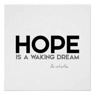 ZITATE: Aristoteles: Hoffnung Poster