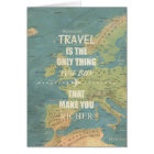 Zitate einer inspirierende Reise Karte
