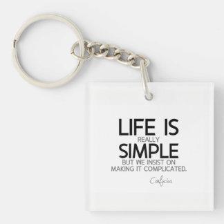 ZITATE: Konfuzius: Das Leben ist einfach Schlüsselanhänger