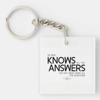 ZITATE: Konfuzius: Kennt alle Antworten Schlüsselanhänger