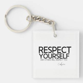 ZITATE: Konfuzius: Respekt sich Schlüsselanhänger