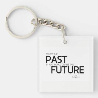 ZITATE: Konfuzius: Studieren Sie die Vergangenheit Schlüsselanhänger