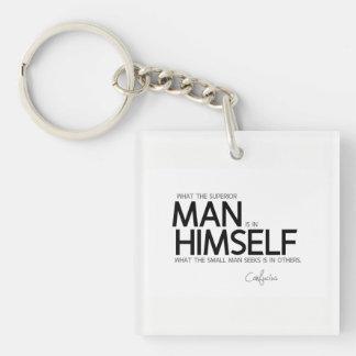 ZITATE: Konfuzius: Überlegene Mannsuchvorgänge Schlüsselanhänger