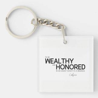 ZITATE: Konfuzius: Wohlhabend und geehrt Schlüsselanhänger