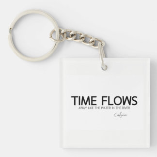 ZITATE: Konfuzius: Zeit fließt weg Schlüsselanhänger