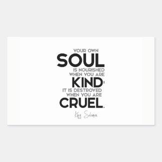 ZITATE: König Solomon: Ihr eigenes Soul wird Rechteckiger Aufkleber