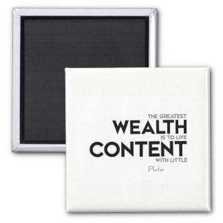 ZITATE: Plato: Bestster Reichtum Quadratischer Magnet