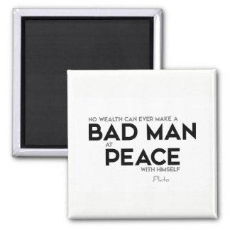 ZITATE: Plato: Böser Mann am Frieden Quadratischer Magnet