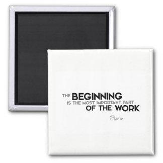 ZITATE: Plato: Der Anfang, Arbeit Quadratischer Magnet