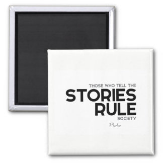 ZITATE: Plato: Geschichtenregelgesellschaft Quadratischer Magnet