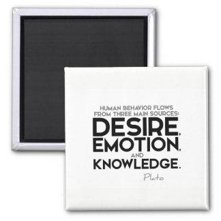 ZITATE: Plato: Wunsch, Gefühl und Wissen Quadratischer Magnet