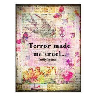 Zitieren Sie durch Emily Bronte - Terror machte Postkarte