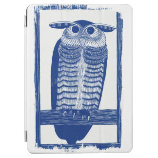 Zitieren Sie moderne Eule im Blau iPad Air Cover