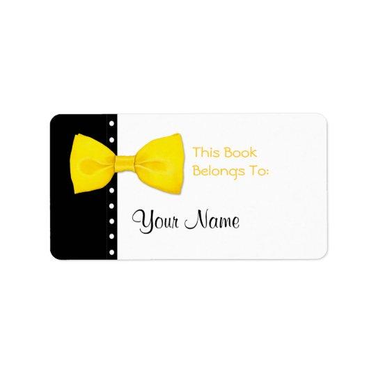 Zitrone BowTie Buchzeichen-Aufkleber-Aufkleber Adressaufkleber