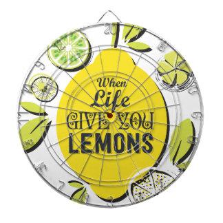 Zitrone Dartscheibe