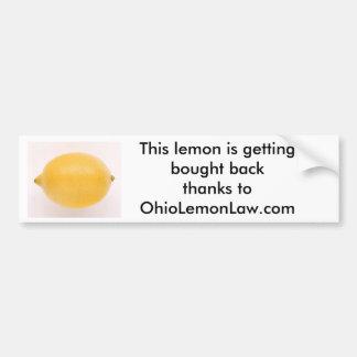 Zitrone, diese Zitrone erhält gekaufte backthanks… Autoaufkleber