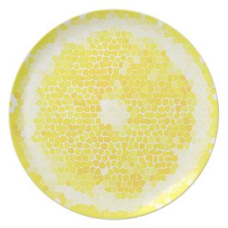 Zitrone geschnitten melaminteller