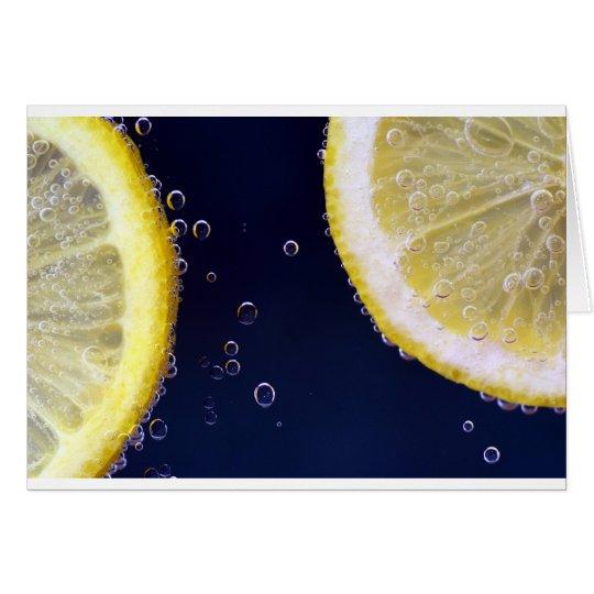 Zitrone Grußkarte