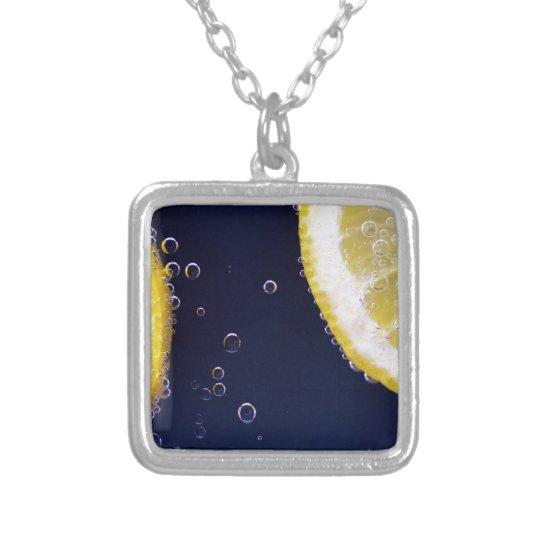 Zitrone Halskette Mit Quadratischem Anhänger