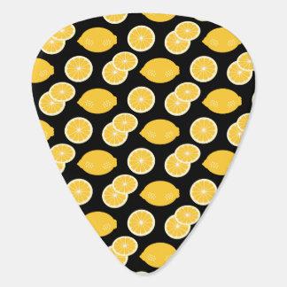 Zitrone Kawaii Zitrusfrucht-Muster-Gelb Plektrum