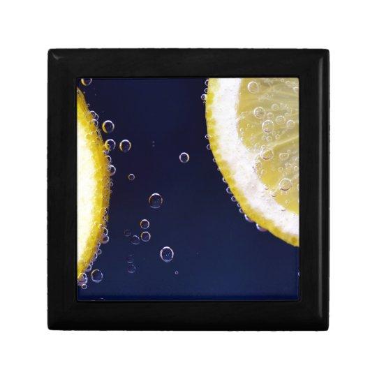 Zitrone Kleine Quadratische Schatulle