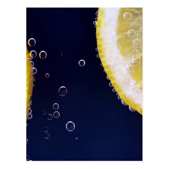 Zitrone Postkarte