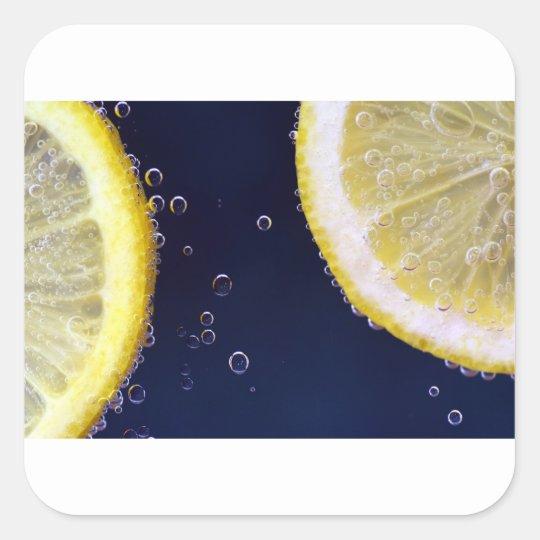 Zitrone Quadratischer Aufkleber