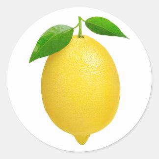 Zitrone Runder Aufkleber