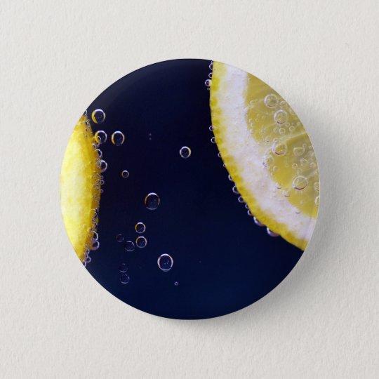 Zitrone Runder Button 5,1 Cm