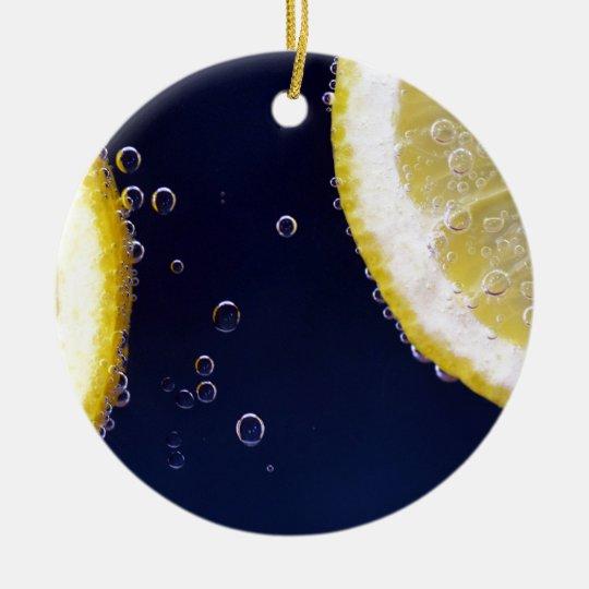 Zitrone Rundes Keramik Ornament