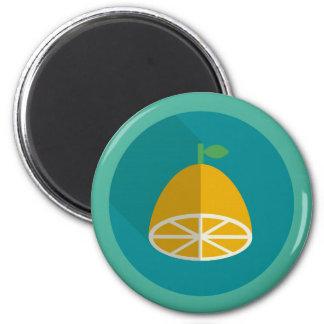 Zitrone Squeezy Runder Magnet 5,7 Cm