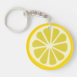 Zitrone Squeezy Schlüsselanhänger