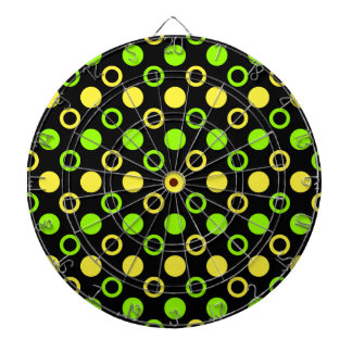 Zitrone und Limone Ringe und Polka-Punkte durch Dartscheibe