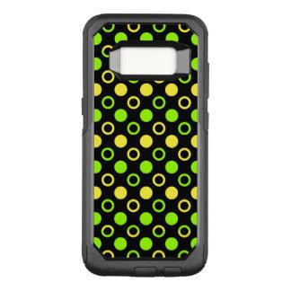 Zitrone und Limone Ringe und Polka-Punkte durch OtterBox Commuter Samsung Galaxy S8 Hülle