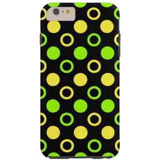 Zitrone und Limone Ringe und Polka-Punkte durch Tough iPhone 6 Plus Hülle