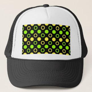 Zitrone und Limone Ringe und Polka-Punkte durch Truckerkappe