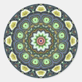 ZitroneLimoner Mandala Runder Aufkleber