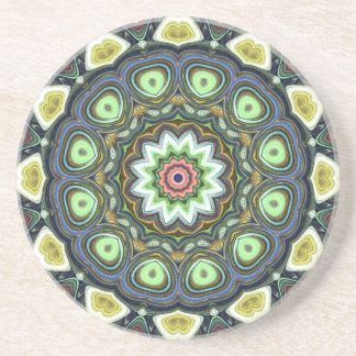 ZitroneLimoner Mandala Sandstein Untersetzer