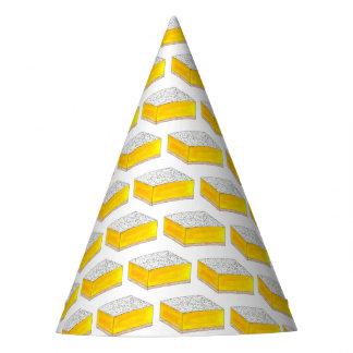Zitronen-backen quadratischer Bar-Gebäck-Nachtisch Partyhütchen